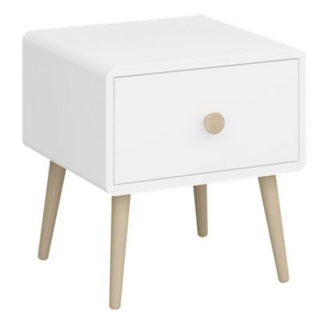 Nightstand GAIA 002 - Nightstand with 1 drawer - EXTRA WHITE