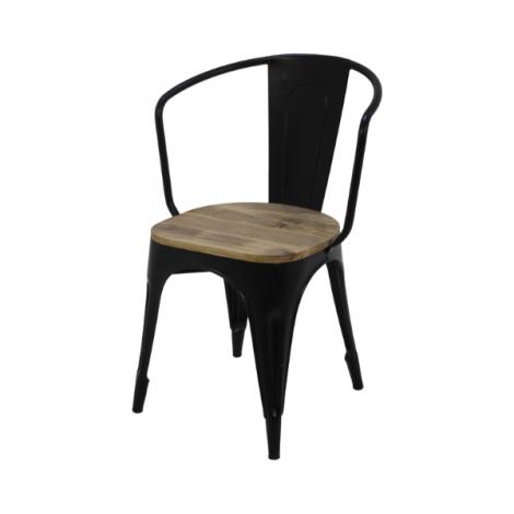 4er Set Kantinenstühle Tap - Mangoholz / Eisen