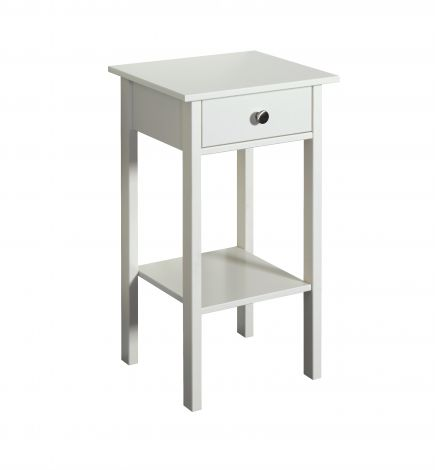 Nighstand TROMSÖ 001 - Nightstand with 1 drawer - WHITE