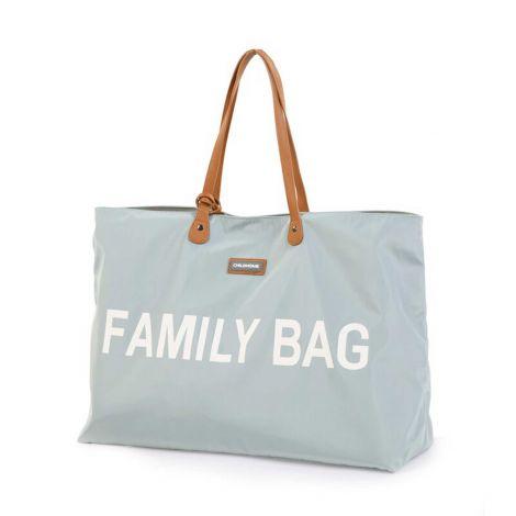 Wickeltasche Family Bag - grau/ecru