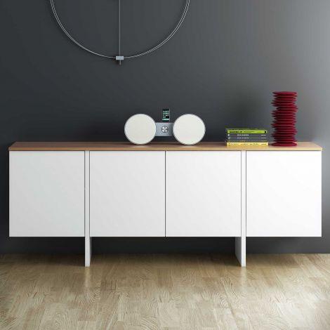 Sideboard Echo - weiß/Eiche