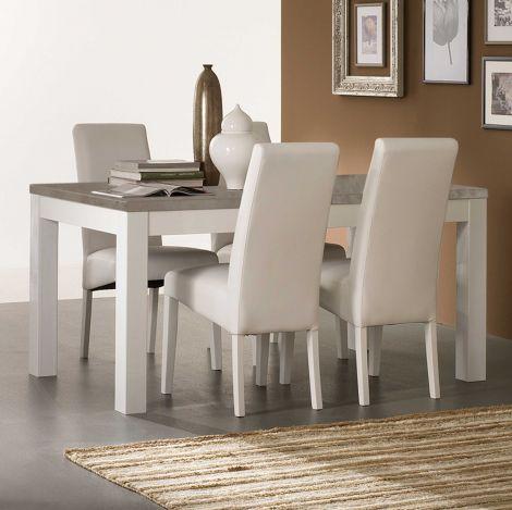 Esstisch Roma 190 cm - weiß/Beton