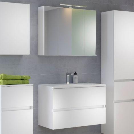 Waschbeckenmöbel-Set Brama 100cm - weiß