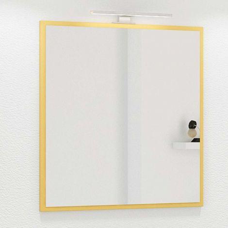 Spiegel Hansen 60cm mit Beleuchtung - gelb