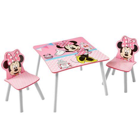 Kindertisch mit 2 Stühlen - Minnie Maus