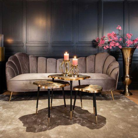 3-Sitzer-Sofa Cosette velours - grau