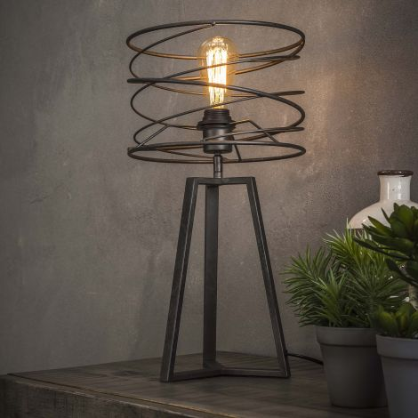 Tischlampe Ø27 curl - Charcoal