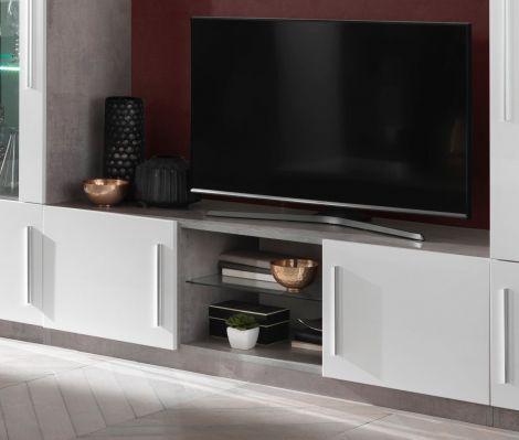 TV-Schrank Greta 156 cm - Beton/Weiß