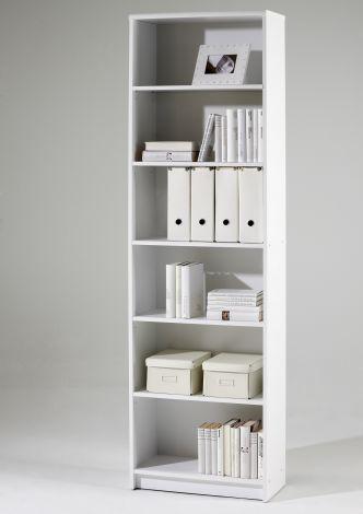 Bücherregal Brysse 60x202cm - weiß