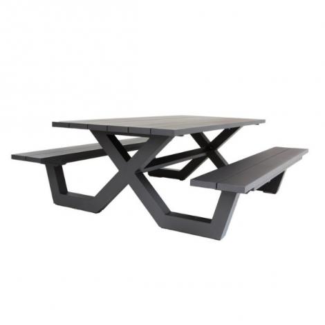 Picknick-Tisch Biabou 220x110 - schwarz