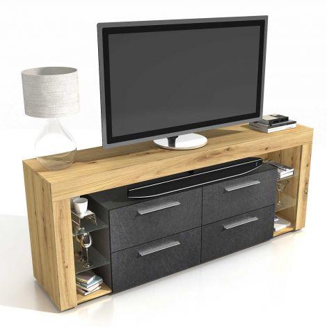 TV-Möbel Vidi 180 cm - Eiche alt/dunkel