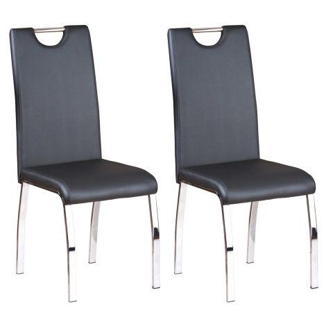 Set mit 2 Stühlen Texas - schwarz