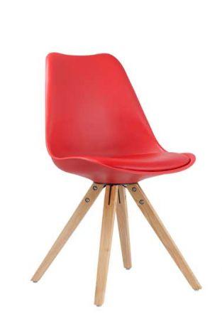 Set mit 2 Stühlen Lady - rot