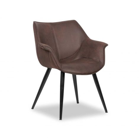 Set mit 2 Stühlen Mailand - braun