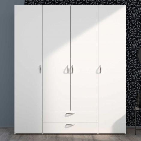 Salvador Aufbewahrungsschrank 4 Türen und 2 Schubladen - weiß