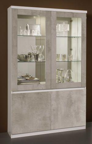 Roma Weiss/beton vitrine 2t