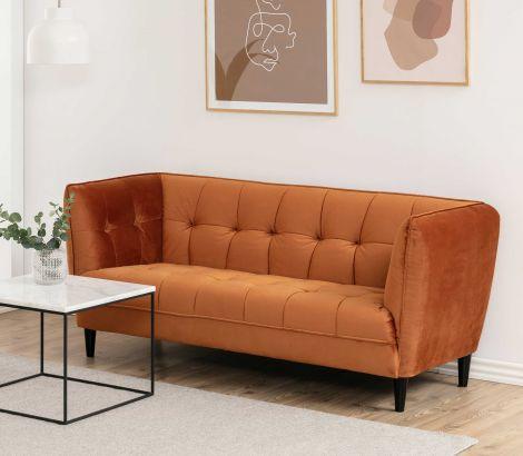 Jonna 2,5-seater sofa - black, copper