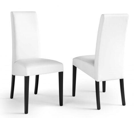 2er Set Stühle Roko - weiß/schwarz