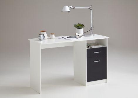 Schreibtisch Jady - weiß/schwarz