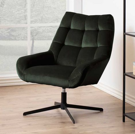 Paris swivel chair - black, dark green