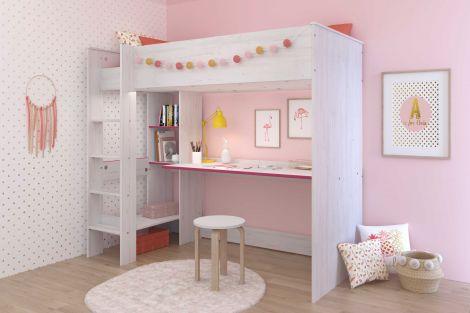 Hochbett Smoozy mit Schreibtisch