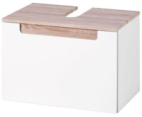 Schrank für Waschtisch Siena 60cm - weiß/braun