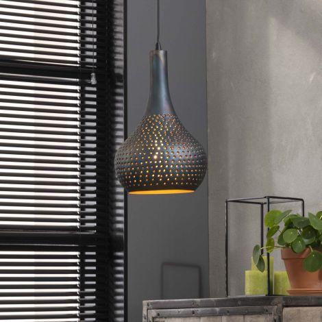 Hängeleuchte Cone 1 Lampenschirm - schwarz/braun