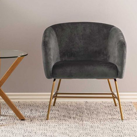 Ramsey resting chair - brass, dark grey