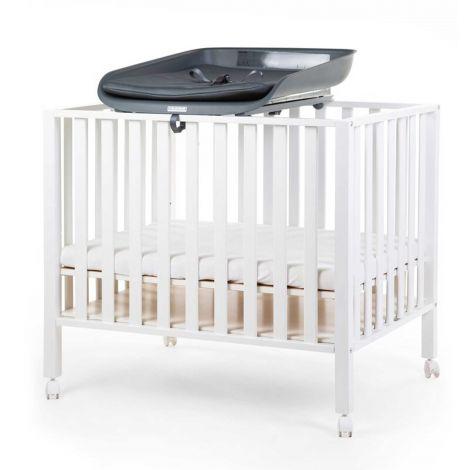 Wickelkommode Evolux mit Wickelauflage für Kinderbett/Laufstall - anthrazit