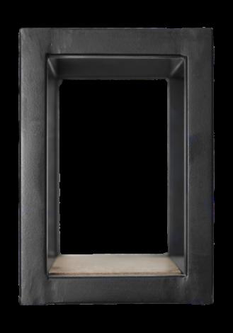 Wandkasten Nivelliere - 20x20 cm - Mangoholz / Eisen