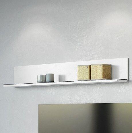 Wandregal Karsten 164cm - weiß/marmoriert
