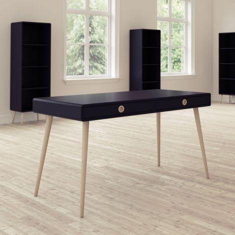Schreibtisch Linz 114cm - schwarz