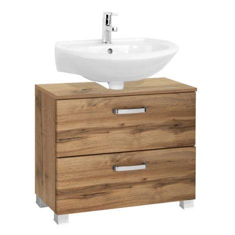Waschbeckenschrank Bobbi 70cm 1 Tür und 1 Schublade - Eiche