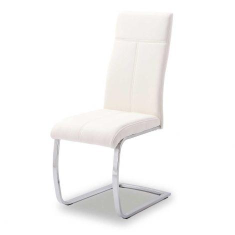 Set mit 2 Stühlen Elio - weiß