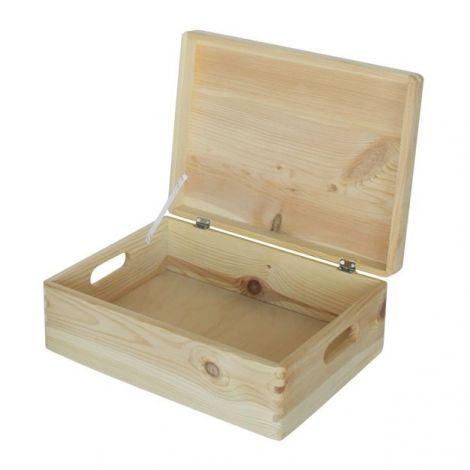 Holzspielzeugkiste Maxine mit Deckel