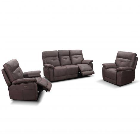 Sofa Set Dax: 3-Sitzer e verstellbar + 2 x 1 Sitzer e verstellbar