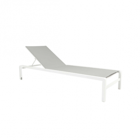 Liegestuhl Dolce - weiß/grau