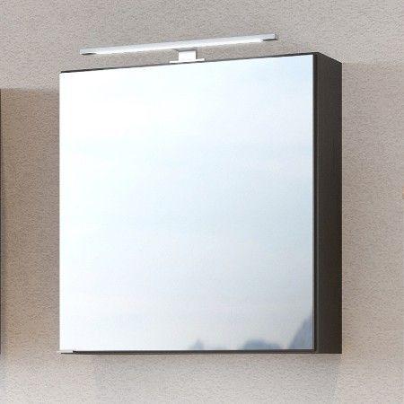 Spiegelschrank Dasa 60cm mit 1 Tür - graphit/mattgrau