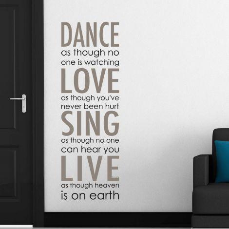 Wandaufkleber Tanz, Liebe, Singen, Live, Live