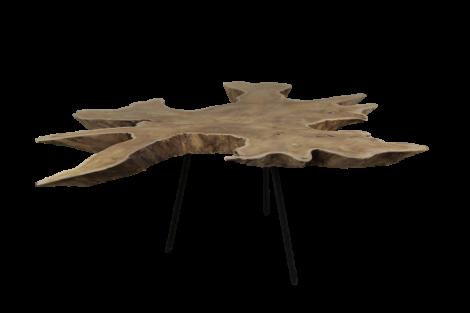 Couchtisch Root - ø80-90 cm - altes Teakholz / Metall