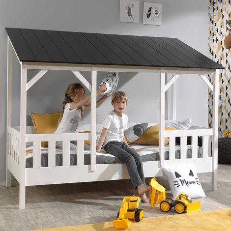 Hausbett Malia 90x200 - schwarzes Dach