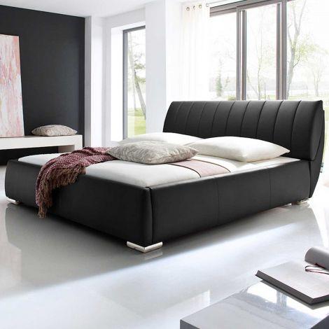 Gestoffeerd bed Bern - 200x200 cm - Zwart