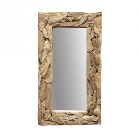 Wandspiegel Root 160x90cm Teak/Wurzelholz