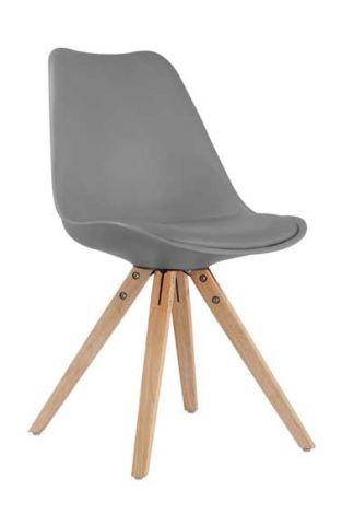 Set mit 2 Stühlen Lady - grau