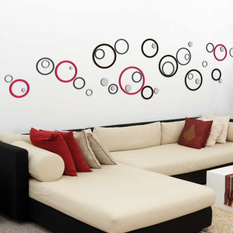 Wandaufkleber 3D Kreise - Schaumstoffaufkleber