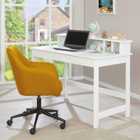 Schreibtisch Harm 110cm - weiß