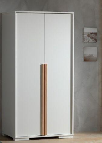 Kleiderschrank London 98cm mit 2 Türen - weiß