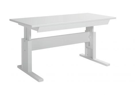 Schreibtisch mit Schublade 140 cm - weiß lackiert