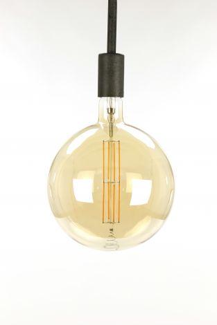 Glühlampe LED Filament Globus Ø20 0 - E27 8W dimmbar - Braunglas