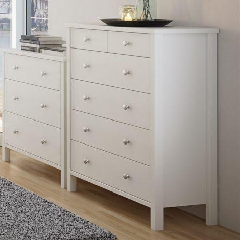 Dresser TROMSÖ 013 - Dresser with 2+4 drawers - WHITE